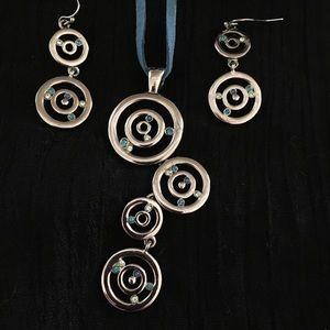 Lia Sophia necklace and earrings set